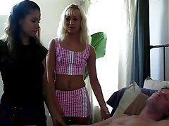Blonde, Brunette, Creampie, Threesome