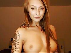 Redhead, Russian, Squirt, Tattoo, Webcam