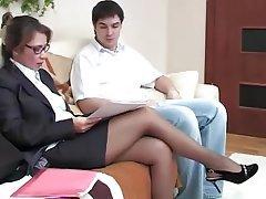 Creampie, Mature, Pantyhose, Pantyhose, Russian