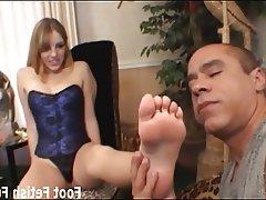 BDSM, Femdom, Foot Fetish, Footjob, Stockings