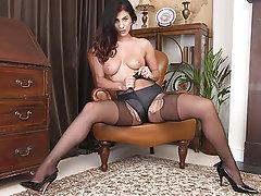 Brunette, Masturbation, Pantyhose, Dildo, Pantyhose