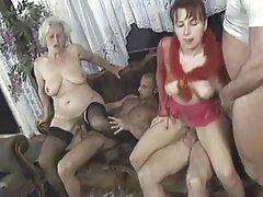 Amateur, Granny, Group Sex, Mature, MILF