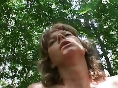 Brunette, Granny, Old and Young, Outdoor