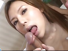 Asian, Blowjob, Creampie, Group Sex